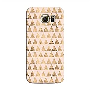 Cover It Up - Brown Pink Triangle Tile Galaxy S6 Edge Hard Case