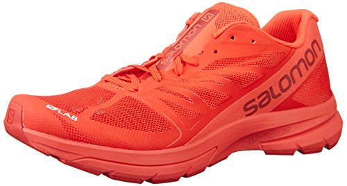 Salomon S-Lab Sonic 2 Road Running Shoe,Racing Red/Molten Lava/White,US 7.5 M