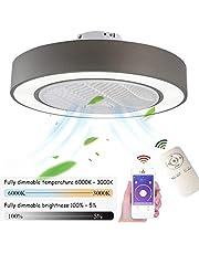 Ventilator aan het plafond met verlichting LED ventilator aan het plafond licht, dimbaar met afstandsbediening, verstelbare windsnelheid, 72W Modern Creative Ultra-Quiet Woonkamer Slaapkamer Fan Lamp