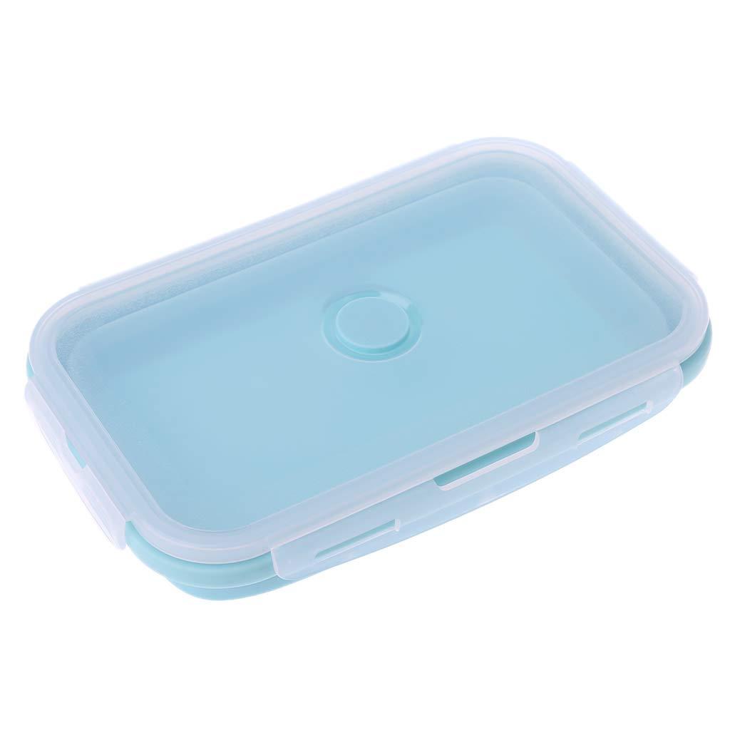 plegable Bol de silicona para comida port/átil para picnic Xineker para almacenamiento 1200