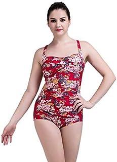 Qiusa Costume da Bagno Bikini da Presidente Codice Grande Triangolo Regolabile Monopezzo, Spa, Peonia Rossa 1701-5, S (Colore : Come Mostrato, Dimensione : Taglia Unica)