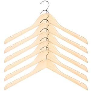 Camiseta de manga corta percha de madera (6 unidades) color: Natural