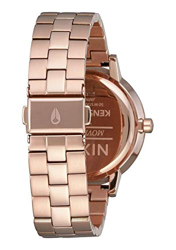 NIXON Kensington A099 - Rose Gold/Storm - 50m Water Resistant Women's Analog Classic Watch (37mm Watch Face, 16mm Stainless Steel Band)