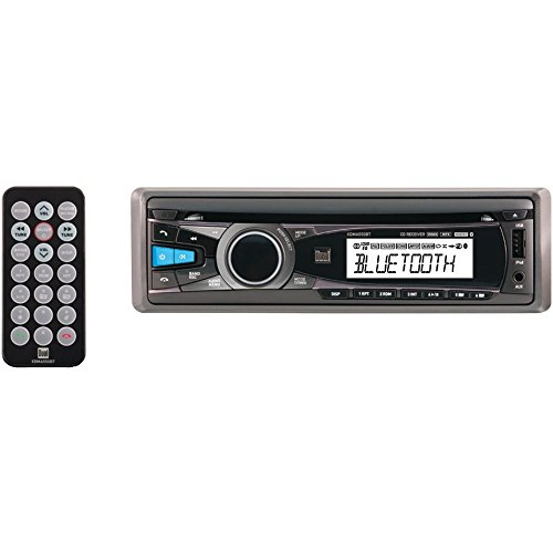 New Dual XDMA550BT CD/MP3 Single DIN LCD Bluetooth Car Audio Receiver (Green Blackberry Faceplates)
