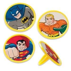 Superhero Cupcake Ring Toppers