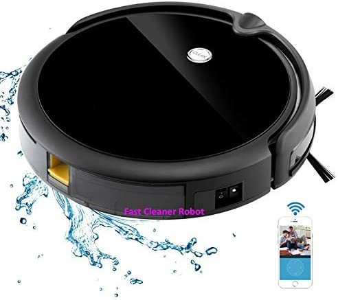 DYHM Robot Aspirador App WiFi húmeda y Seca Robot Aspirador Monitor de cámara, navegación por Mapa, Memoria Inteligente, videollamada, Tanque de Agua 350ML: Amazon.es: Hogar