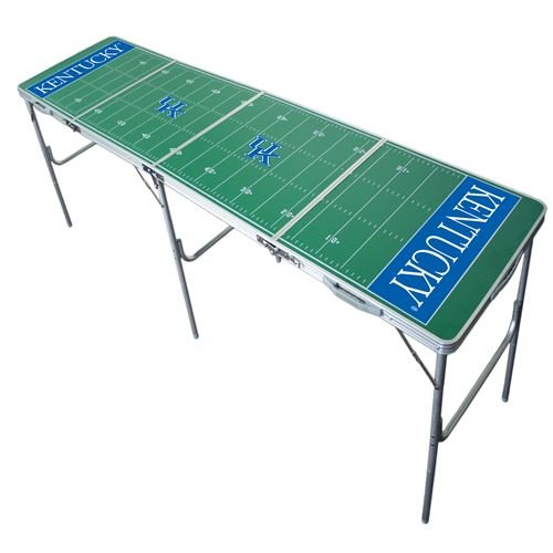 Kentucky Wildcats Tailgate Table, NCAA Football Tailgating, 2x8, 8ft, Lightweight