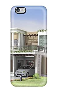 Defender Case For iphone 6 4.7, Modern Houses Pattern