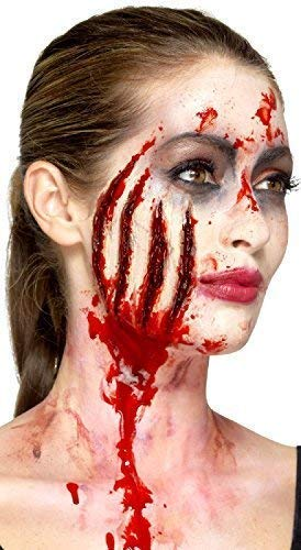 Halloween Bloody Claw Wound Mark Special Effects Horror Gore Make Up Fancy Dress Costume Outfit Accessory Scar