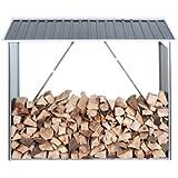 Tepro Abri pour bois de chauffage Anthracite
