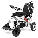 Porto Mobility Ranger Royce Ultra Premium Portable Power Wheelchair Aerospace Aluminum Crafted Design Foldable Lightweight Dual Motor Airplane Ready Folding Electric Wheelchair (Free Travel Case))