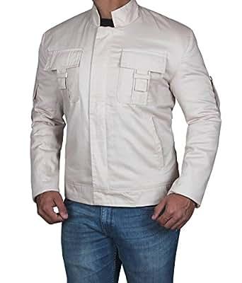 BlingSoul Mens Luke Zippered Casual Cotton Beige Jacket - Outerwear For Jacket | Beige, XS