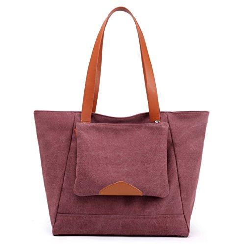 Hobo Casual Bag Purse Purple Everyday Canvas Women's waTfqgzf