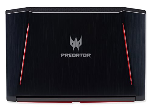 Acer Predator Helios 300 Gaming Laptop, 15.6″ Full HD, Intel Core i7-7700HQ CPU, 16GB DDR4 RAM, 256GB SSD, GeForce GTX 1060-6GB, VR Ready, Red Backlit KB, Metal Chassis, G3-571-77QK