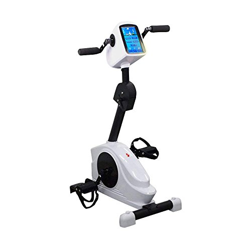 Dragon Fitness Cycle,Pedal Exerciser Portable Arm Leg Mini Active Cycle, Mini Exercise Machine Indoor Home Gym Cycling Trainer Equipment (White-B) For Sale