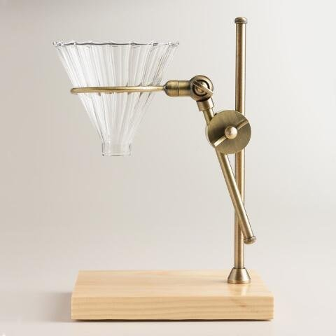 brass-pour-over-drip-coffee-maker-dripper-stand-with-wood-base-by-ltd-commodities