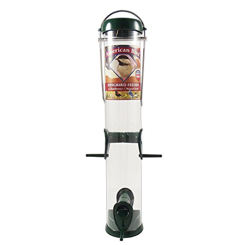 """Droll Yankees AB-S15G 4 Port Songbird Feeder for Sunflower or Mixed Seed, 15"""", Green"""