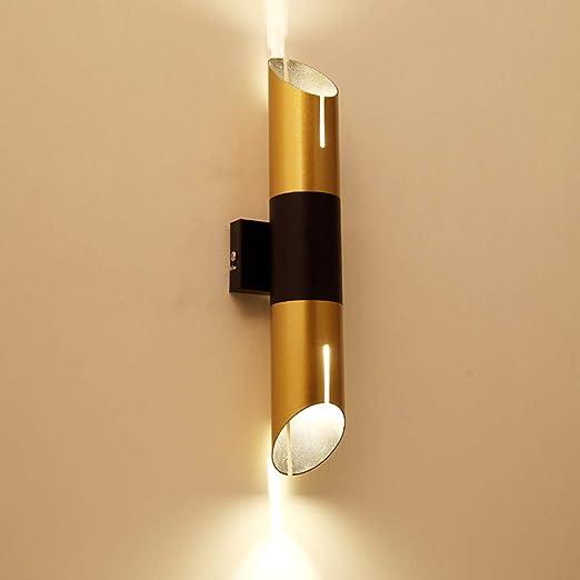BQYY LED Lámpara de pared Moderna Interior Aluminio Apliques de Pared para Dormitorio Interruptor Pulsador Botón Downlighter Luz seguridad Escalera Cocina Lavadero Pasillo Armario Luminaria Inoxidable: Amazon.es: Iluminación