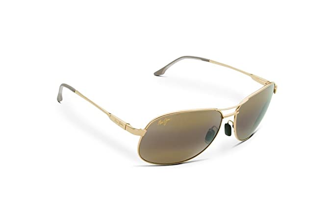 9e99375aef Maui Jim RX Able H117-16 HCL Gold Akoni Sunglasses With Case  Amazon ...
