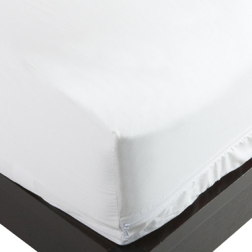 Allersoft 100-Percent Cotton Bed Bug, Dust Mite & Allergy Control Mattress Protector, Queen 12-inch