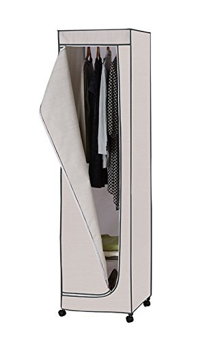 Attrayant Organize It All Rolling Wardrobe Closet Storage With Hanging Bar   Light  Gray