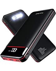 Power Bank Portable Charger 25000mAh,High Capacity with LED Digital Display and LED Lights, 3 USB Output & Dual Input, External Battery Pack for All the Smart phone go pro Nitindo and More device
