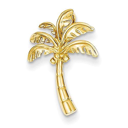 Tree 14k Palm (Lex & Lu 14k Yellow Gold Palm Tree Slide LAL78134-Prime)