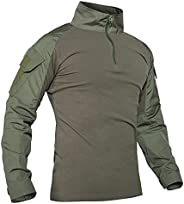 ANTARCTICA Mens Long Sleeve Tactical Shirt T-Shirt Men's Military Rapid Assault Army Combat Rapid Assault