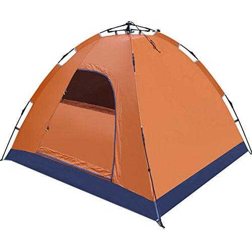 同化する付与親愛な自動テント,3-4 人 プル ロープ スピード オープン 屋外テント 迷彩 キャンプ 蚊対策 ドームテント