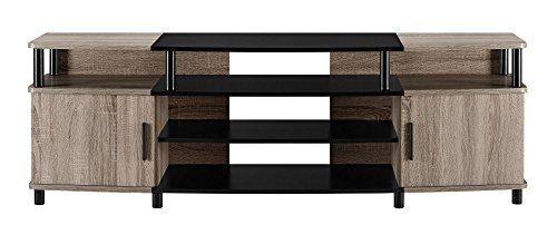 Carson XL Black and Cherry TV Stand for TVs up to 70