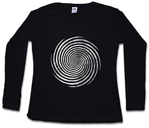 Hypno Spiral I Women Long Sleeve T-Shirts Sizes XS - 2XL Black