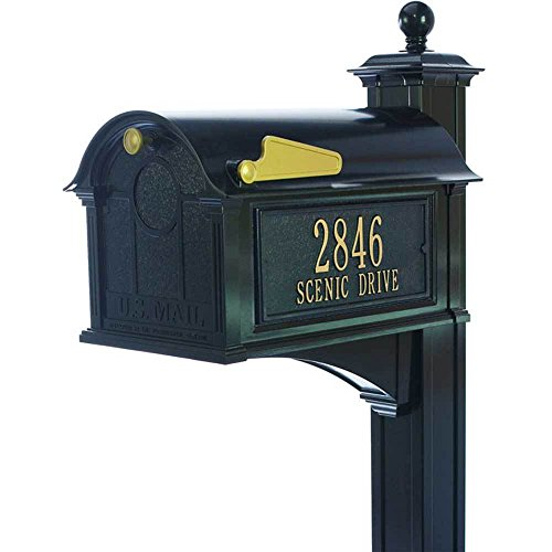 Mailbox, Post, Bracket, Side Plaques, Hardware, Instructions
