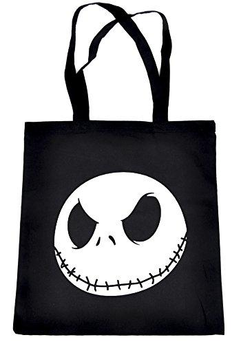 Jack Skellington Face Evil Grin Tote Bag Nightmare Before Christmas Book Bag (Jack Skellington Tote Bag)