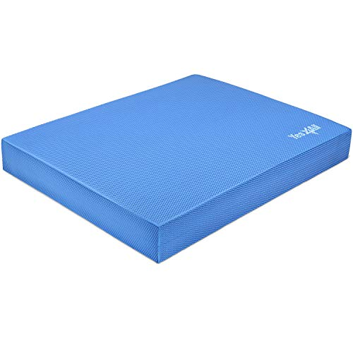 Yes4All Exercise Foam Pad L & XL – Anti-Fatigue Pad for Ankles & Knees (Loop Bands/Straps) for Physical Exercise/Balance…