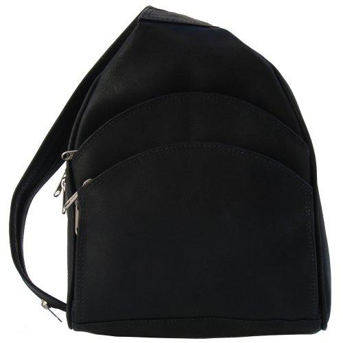 Piel Leather Backpack Sling, Black, One Size