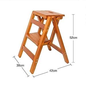Superb Amazon Com Yxwyz Folding Tables Wooden Step Stool Folding Ibusinesslaw Wood Chair Design Ideas Ibusinesslaworg