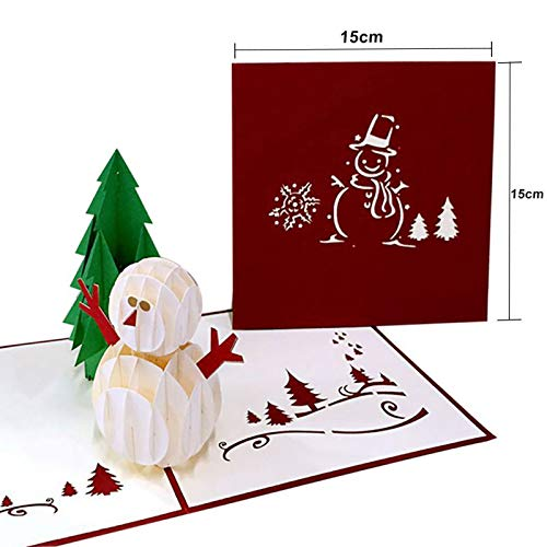 Christmas 3D Cards Pop Up Greeting Holiday Cards Gifts for Xmas New Year Gift Greeting Cards Paper Craft -