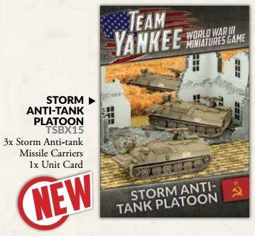Battlefront Team Yankee Soviet Storm Anti-tank Platoon box TSBX15