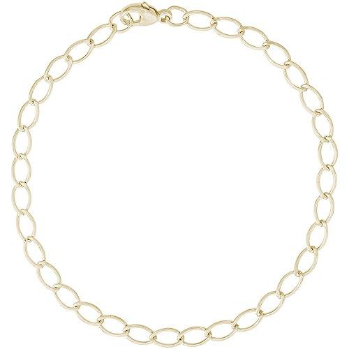 Oval Bracelet Charm 14k (Rembrandt Charms, 7