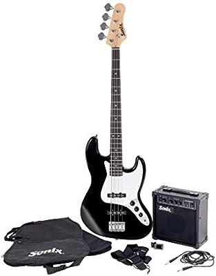 Sonix J-Style - Juego de guitarra baja, color negro: Amazon.es ...