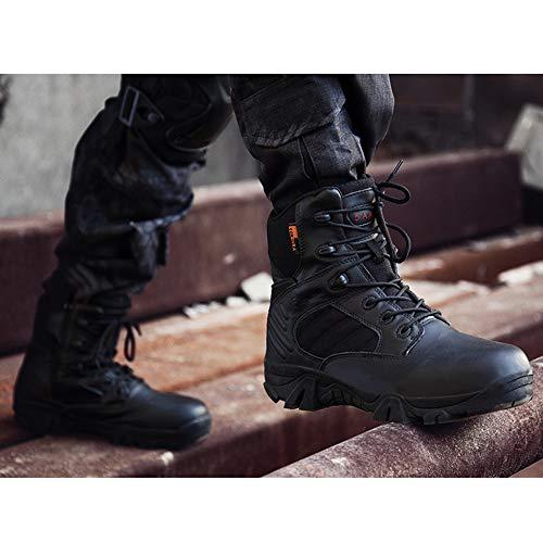 Trekking Uomo da Stivali Tops da Scarpe Desert da Lace Allenamento Militari per Boots Combattimento Trekking Black ASJUNQ da SWAT Scarpe Stivali da Tattiche Outdoor xYwWf