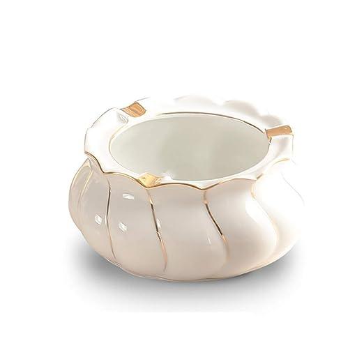ZSQDSZ Ceramic Titanium Plating Cenicero de Mesa, Cigarrillo ...