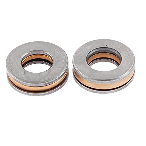 Metales axiales de bolas de rodamiento de rodillos de 16 mm x 8 mm x 5 mm 2pcs DealMux DLM-B0177ADHDW