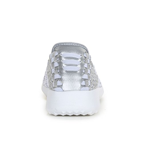 Scarpe White amp;Scarpe Alesya Elasticated Sport Slip Sneakers Ons ZCg5qwP