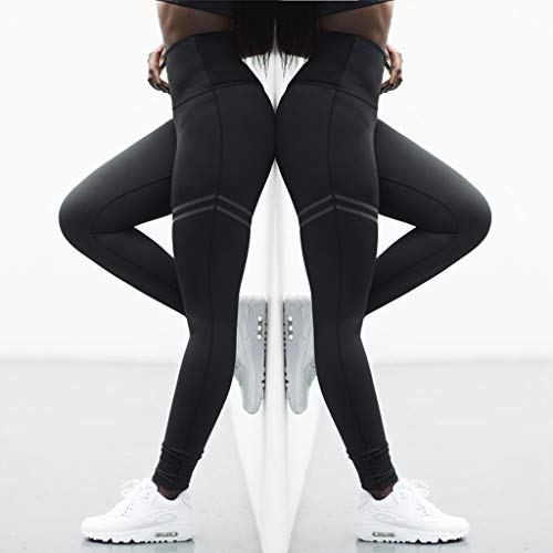 (Soft Women Yoga Pants High Elastic Fitness Sport Tights Slim Running Sportswear Pants Quick Drying Training Trousers(Black,XL))