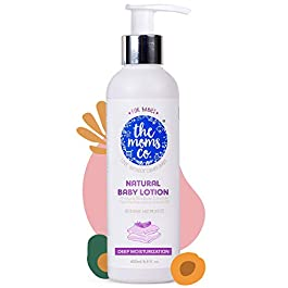 The Moms Co. Natural Baby Lotion, Australia-Certified with Organic Apricot, Organic Jojoba and Organic Rice Bran Oils…