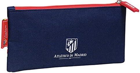 Atletico de Madrid- Estuche portatodo Plano Bordado CYP Imports PT-221-ATL 21 cm Multicolor