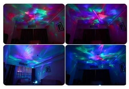 Yodesi The Aurora Borealis Colored Diamonds LED Night Light Projector Pot  Music Input, Aurora Light, Aurora Lamp, Color Diamond music Projection