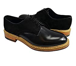 Black Oxford Men's Shoes by Paul Malone . 100% Leather