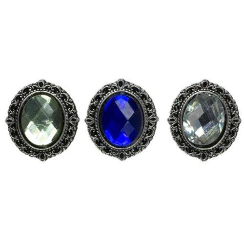 - Cousin Slide Bracelet Metal Slide-Metal/Acrylic Silver Oval 3/Pkg